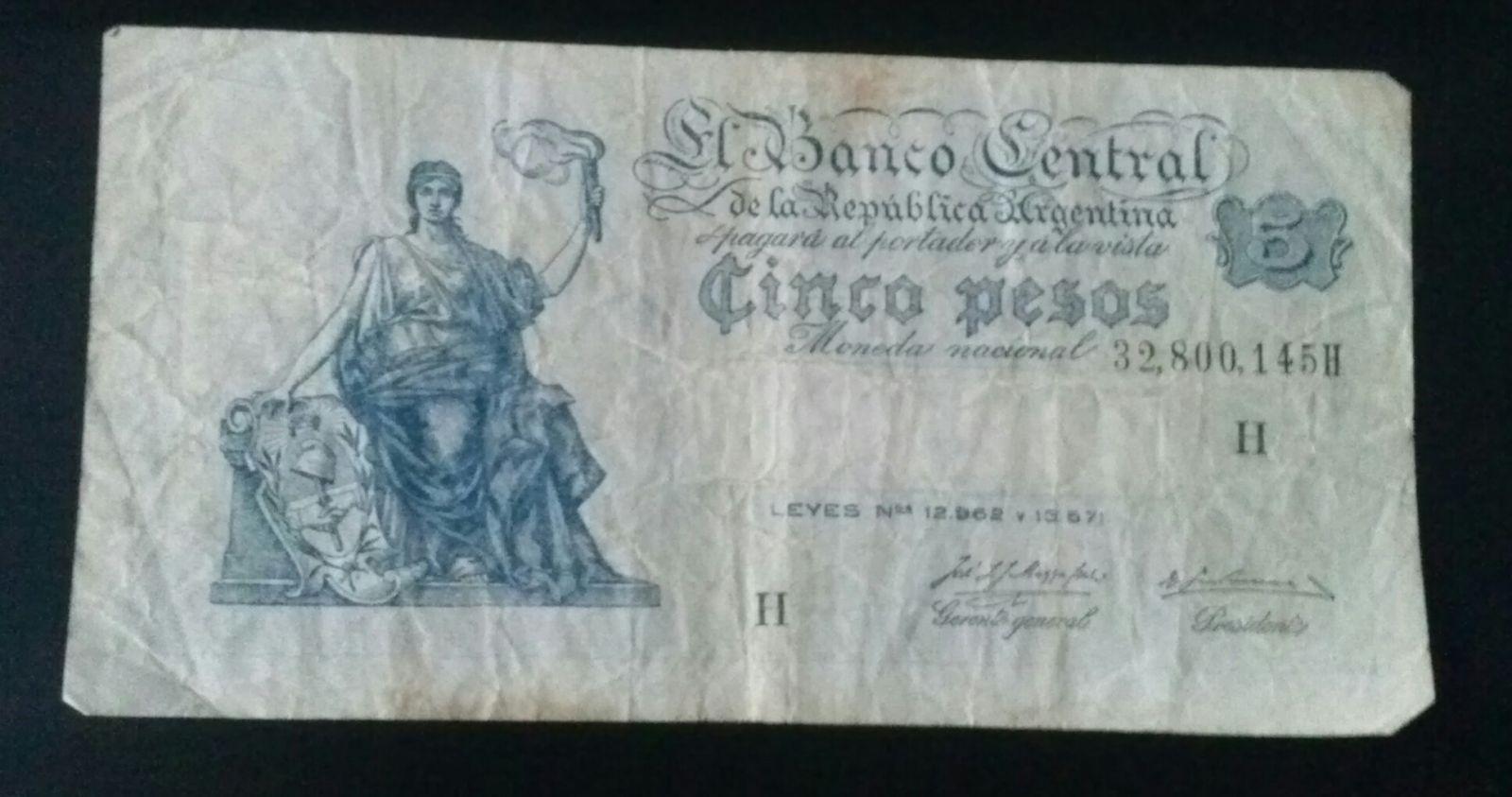 Argentina 5 Pesos 1929 (Dritto)