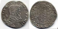 Mezzo ducato - Filippo II principe di Spagna - 1554/56