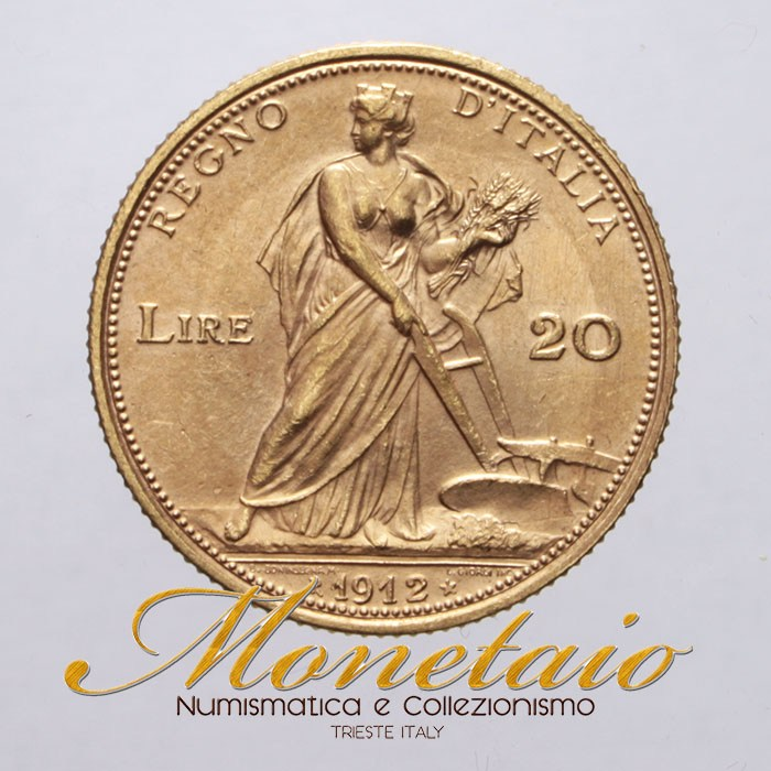 20lire1912 R2 Red Gold