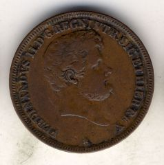 5 Tornesi 1845 dritto