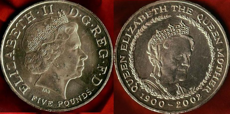 GB 5 £ Queen Mother Memorial