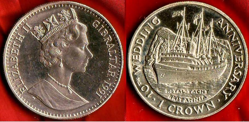 Gibraltar 1 Crown 1991
