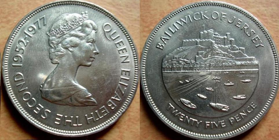Jersey 25 pence - giubileo del 1977