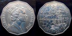 AUSTRALIA 50 cents 1988 bicentenario