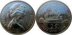Sant'Elena  25 pence (corona) 1973