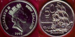 New Zealand 50 cents 1993