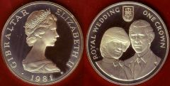 Gibraltar 1 crown 1981