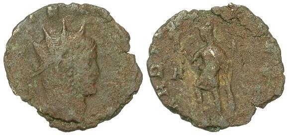Gallienus,  R/ MARTI PACIFERO (Braithwell hoard)