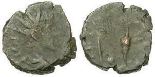 Tetricus II, R/ PIETAS AVGVSTOR (Braithwell hoard, 43 esemplari)
