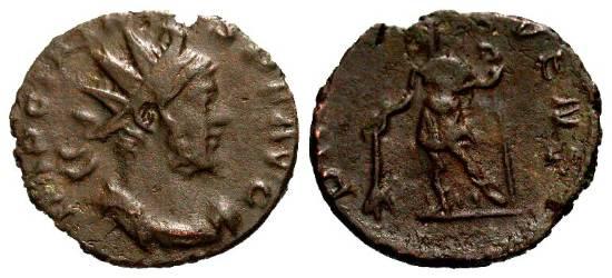 Tetrico I (ibrido, R/ Tetrico II), R/ PRINC IVVENT, ex Braithwell hoard