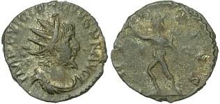 Vittorino, zecca di Treveri, R/ INVICTVS (Braithwell hoard)