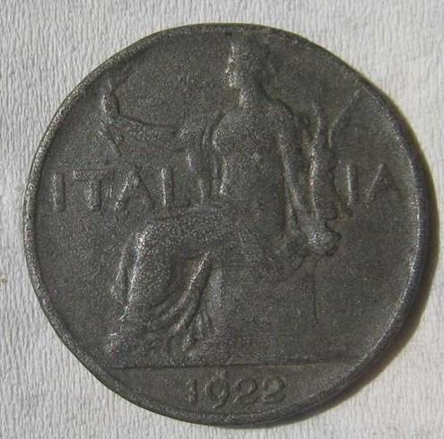 Buona 1 lira 1922 Dritto