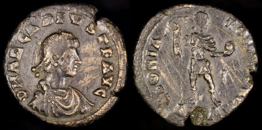 Ancient Coins - Arcadius Light Miliarensis - GLORIA ROMANORVM