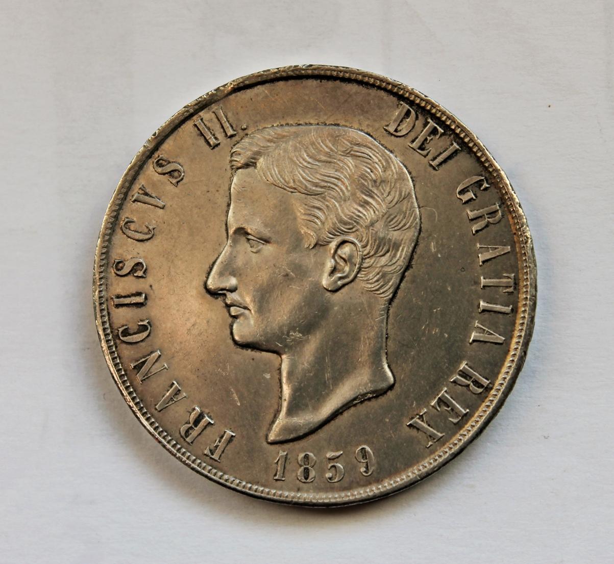 120 grana 1859 francesco ii monete e medaglie delle due for Siti di collezionismo