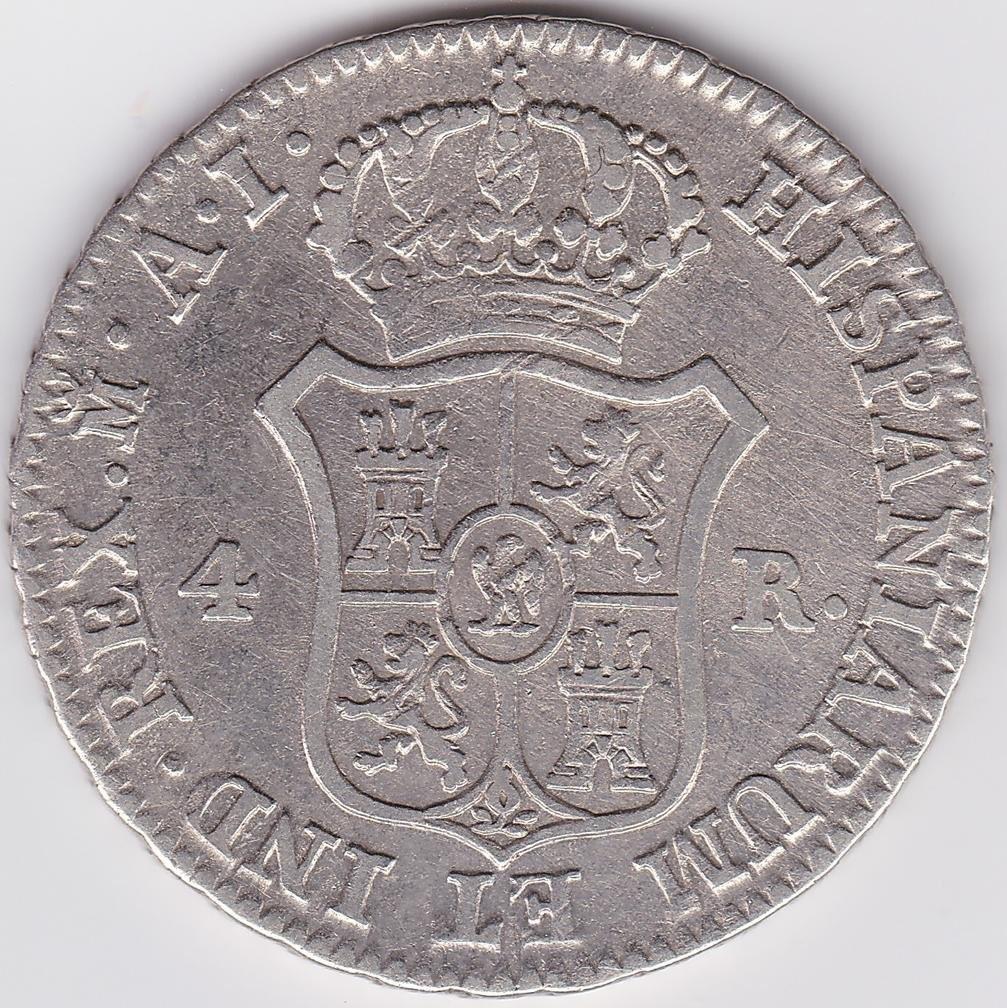 Quatro Reales 1810/R
