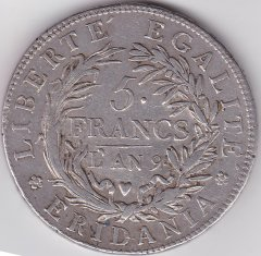 5 Francs L'an 9 /B