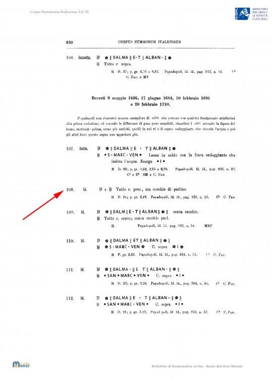 Venezia - Soldo per Dalmazie e Albania - Classificazione CNI.jpg