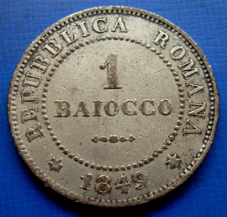 1 Baiocco - II Repubblica Romana - Rovescio.JPG