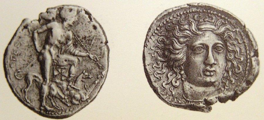 10a Segesta tetradramma UNICO del 405 con ninfa Aigestes di faccia.jpg