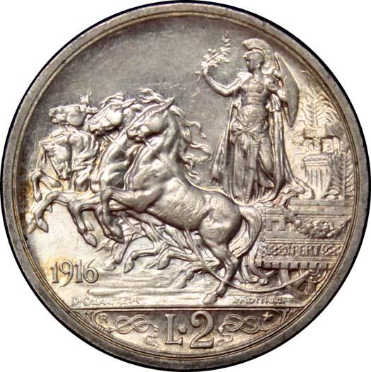 2 Lire 1916 Quadriga 2.JPG