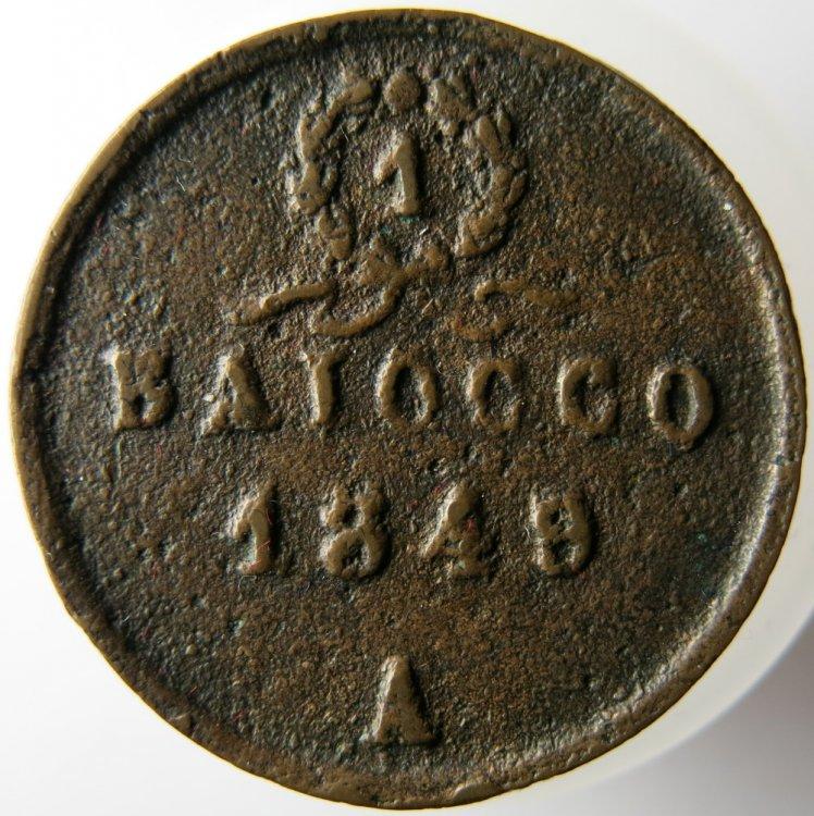 ANCONA - 1 BAIOCCO 1849 - Rovescio - ESEMP1.JPG