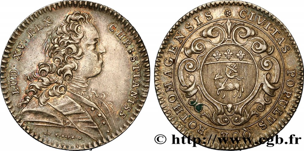 Louis XV Ville de Rouen cca 1725.jpg
