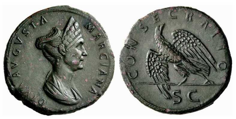 Marciana , sorella di Traiano e madre di Matidia , RIC748.jpg