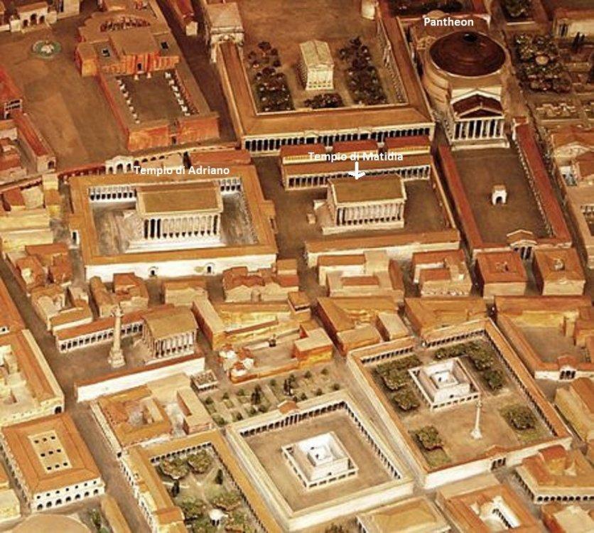 Zona del Campo Marzio nell' antica Roma con la posizione del Tempio di Matidia.jpg
