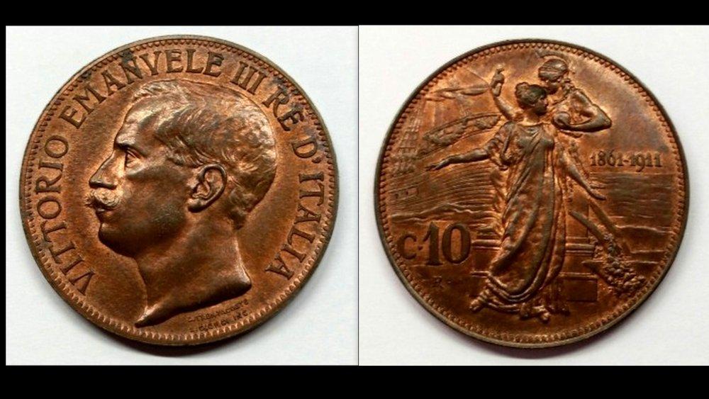 10 centesimi 1911 cinquantenario fdc pagato 75 euro da luciamatador.jpg