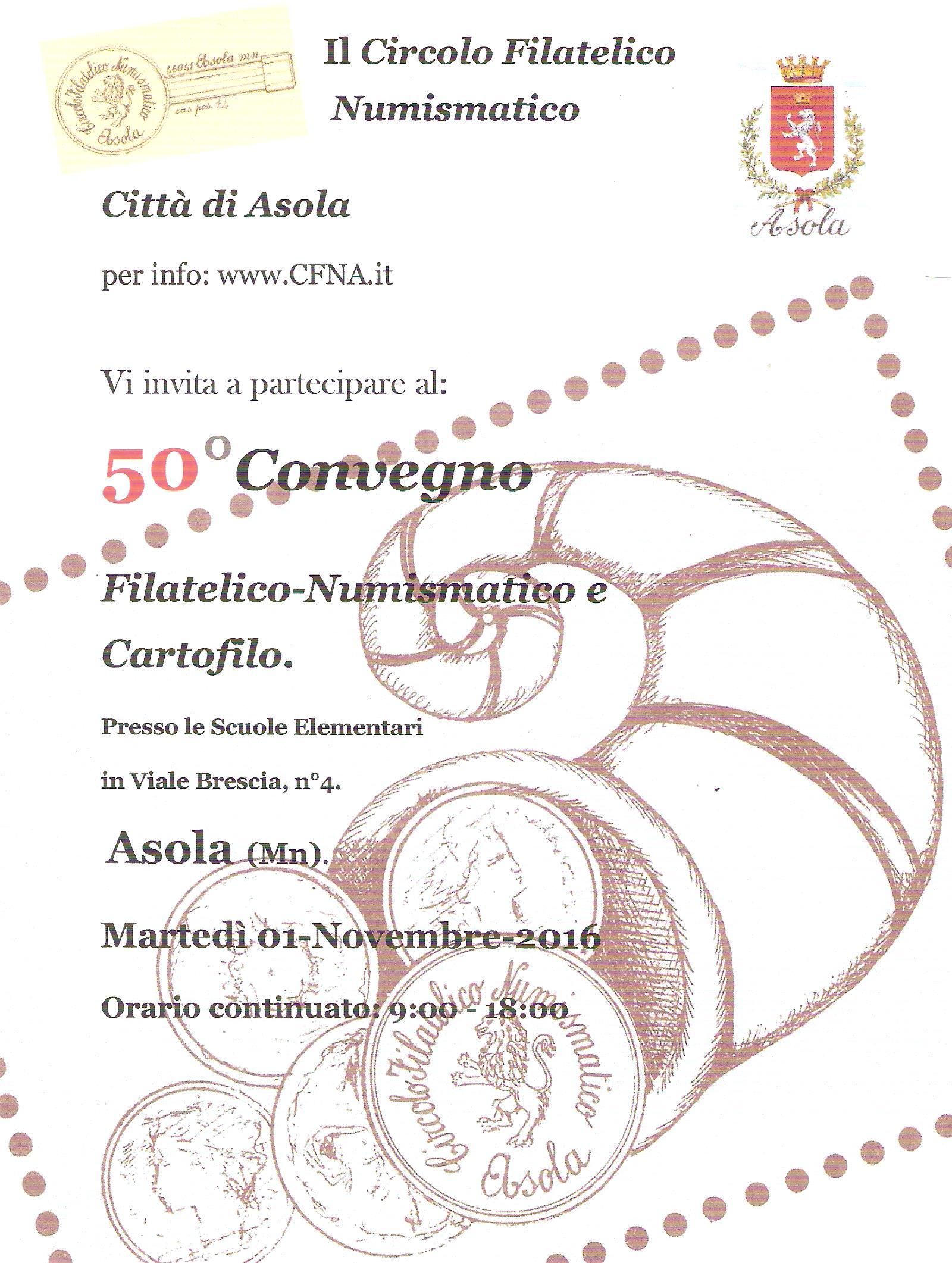 19d8a3a22d Evento commerciale] 50° convegno numismatico asola - Segnalazione ...