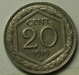 Italia 20 c. esagono 1919 qSPL (1).JPG