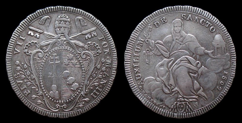 Scudo Pio VII A.III 1802 AUXILIUM.jpg