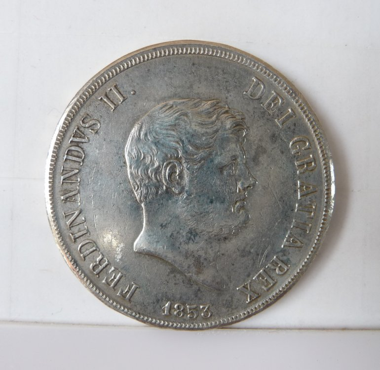 Piastra 120 Grana 1853 6° Tipo Regno Delle Due Sicilie Ferdinando II di Borbone 1830-1859 (16).JPG
