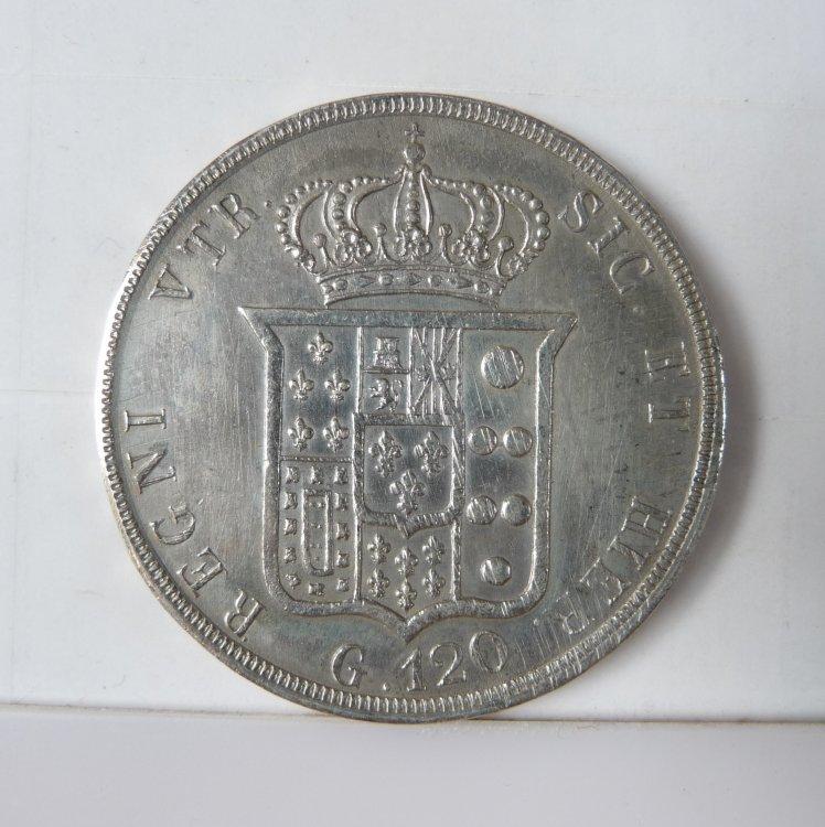 Piastra 120 Grana 1853 6° Tipo Regno Delle Due Sicilie Ferdinando II di Borbone 1830-1859 (17).JPG