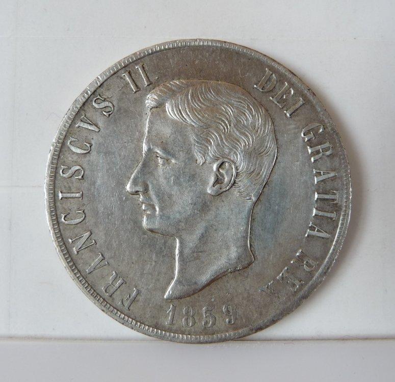 Piastra 120 Grana 1859 Regno Delle Due Sicilie Francesco II di Borbone 1859-1860 (3).JPG