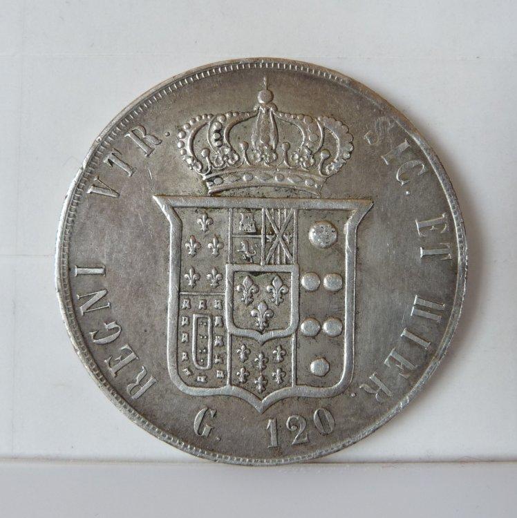 Piastra 120 Grana 1859 Regno Delle Due Sicilie Francesco II di Borbone 1859-1860 (4).JPG