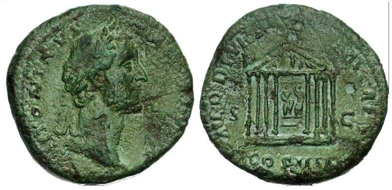 Antonino Pio , Tempio di Augusto , RIC755.jpg