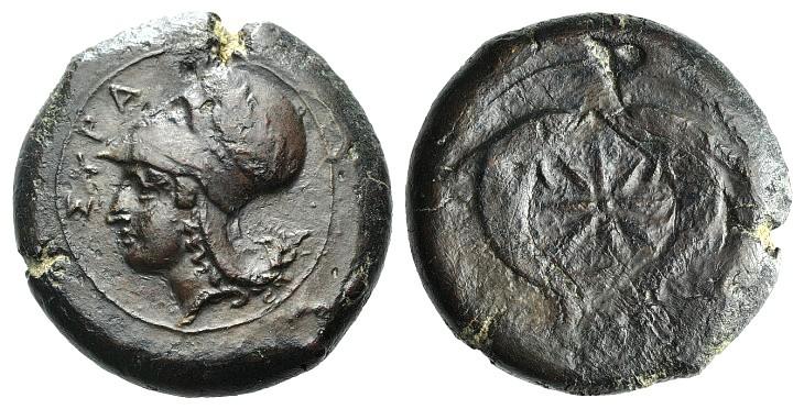 n.148 - Sicily, Syracuse. Dionysios I (405-367 BC). Æ Drachm (32mm, 31.76g, 9h),.jpg