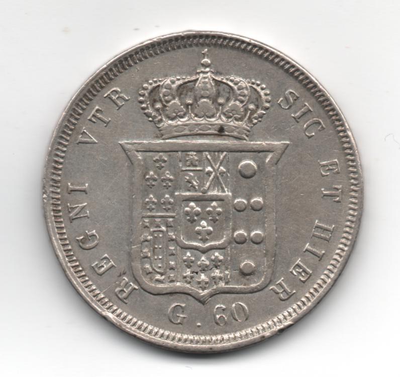 Mezza Piastra da 60 Grana 1846 4° Tipo Regno Delle Due Sicilie Ferdinando II di Borbone 1830-1859 (2).png