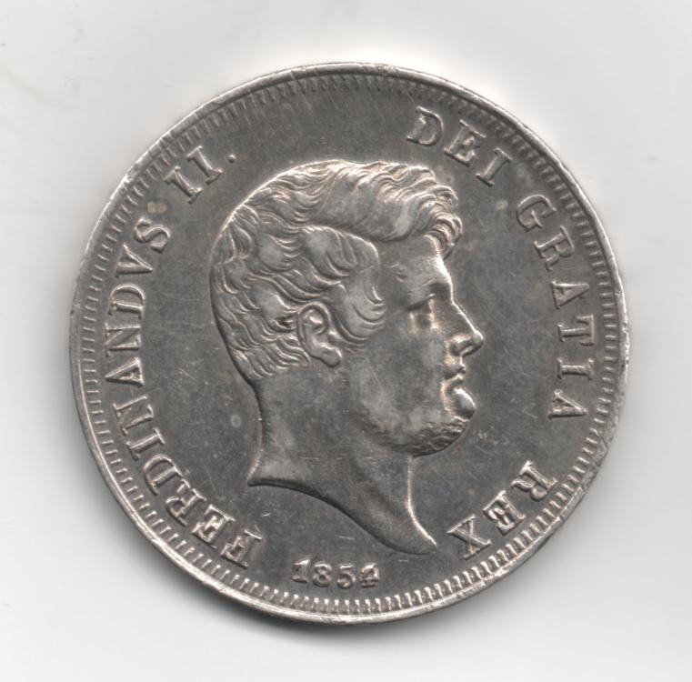 Mezza Piastra da 60 Grana 1854 Ribattuta 4° Tipo Regno Delle Due Sicilie Ferdinando II di Borbone 1830-1859 (1).png