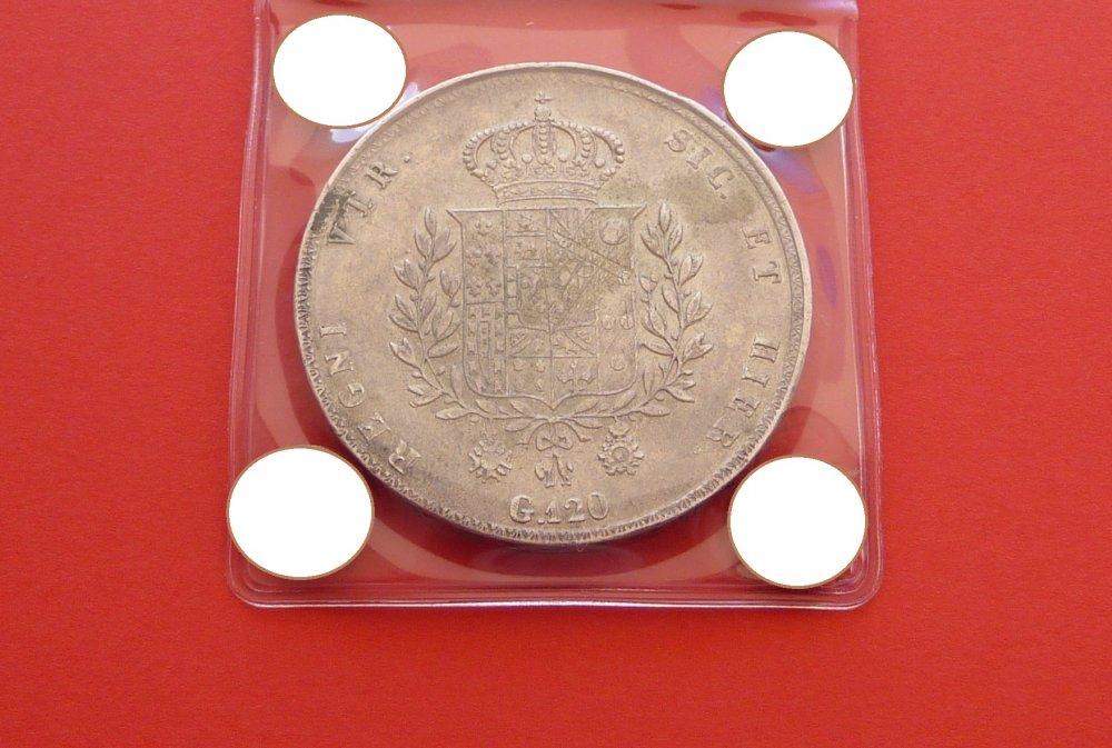 Piastra 120 Grana 1825 Regno Delle Due Sicilie Francesco I di Borbone 1825-1830 (6).JPG
