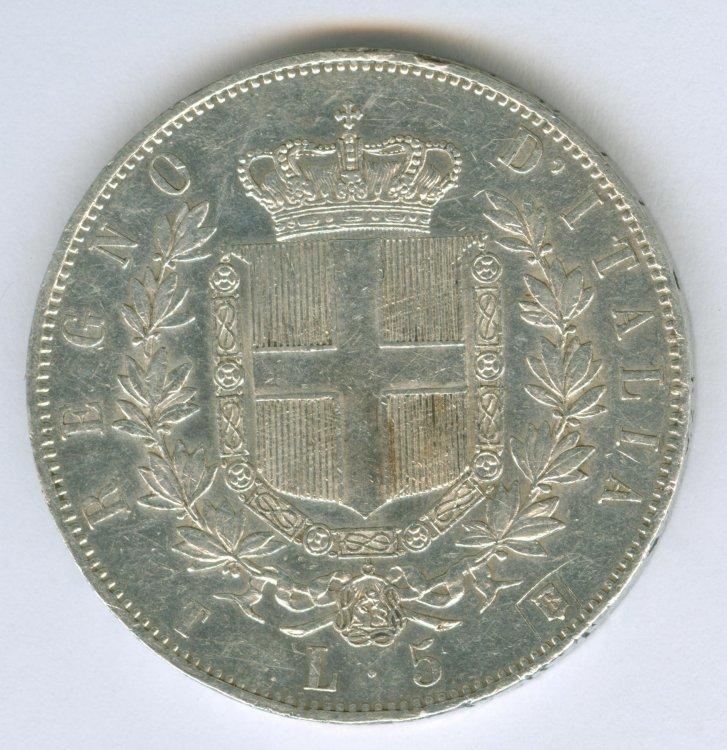 5 LIRE 1861 VITT.EM.II - retro.jpg