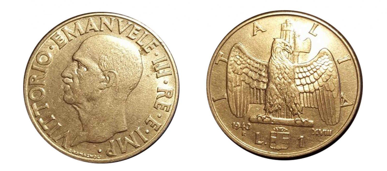 1 lira 1940