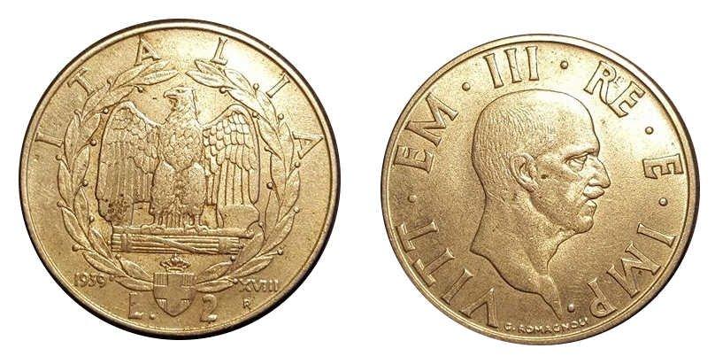 2 Lire1939 XVIII