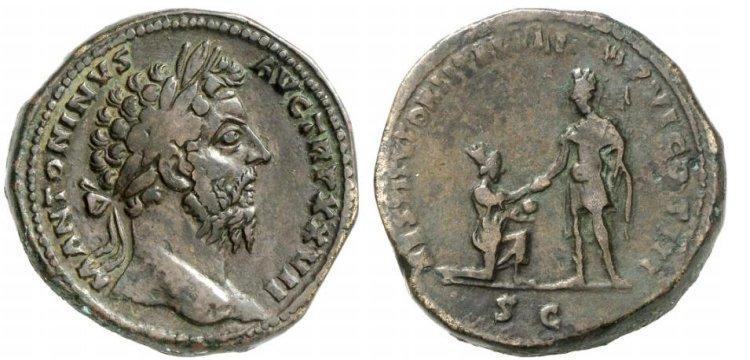 Marco Aurelio , Restitutori Italiae , RIC1077.jpg