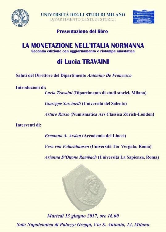 Locandina Milano 13 giugno-La monetazione nell'Italia normanna, seconda edizione.jpg