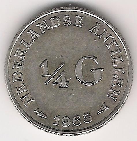 Antille Olandesi 1 Quarto Gulden 1965 A.jpg