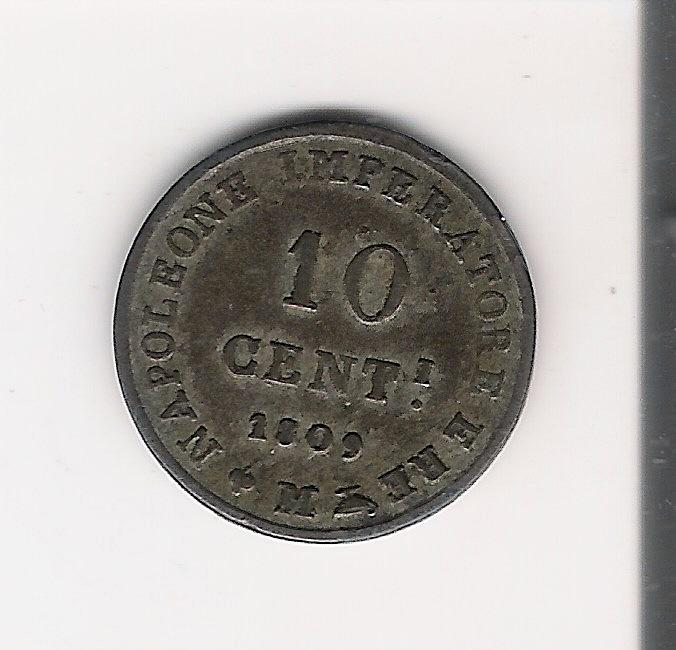 Regno di Napoleone 10 Centesimi 1809 - A.jpg