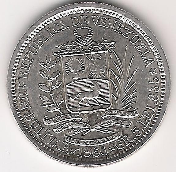 Venezuela 1 Bolivar 1960 A.jpg