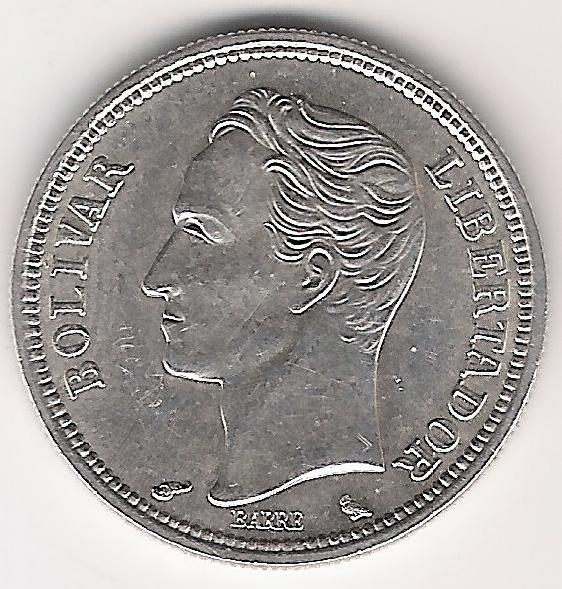 Venezuela 1 Bolivar 1960 B.jpg